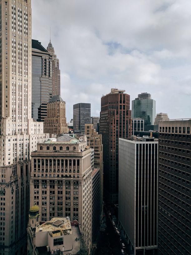 Blick über Hochhäuser
