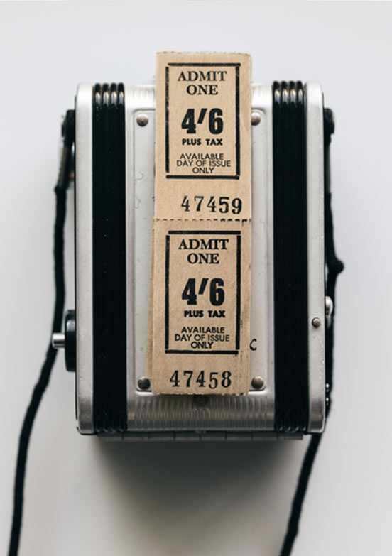 Retro Ticket-Maschine